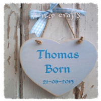 New Baby Heart Personalised Keepsake Gift